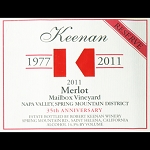 Keenan Napa Merlot Mailbox Vineyard 35th Anniversary Spring Mountain 2011