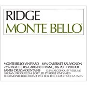 "Ridge Vineyards ""Monte Bello"" 2010"
