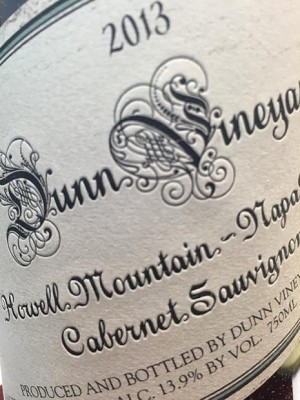 Dunn Howell Mountain Cabernet Sauvignon 2013