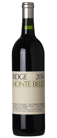 "Ridge Vineyards ""Monte Bello"" 2014"