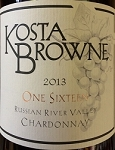 Kosta Browne One Sixteen Russian River Valley Chardonnay 2013